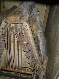 Dirty indoor air conditioner evaporator coils can cause air conditioner compressor failure