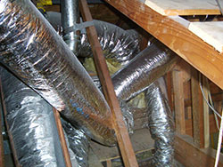 Messy duct installation restricting airflow, Corona, Norco, Anaheim, Yorba Linda, Irvine, Mission Viejo, Whittier duct testing