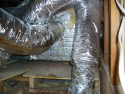 Improper air duct connections prevent air from freely moving. Air conditioning service and Heating service.