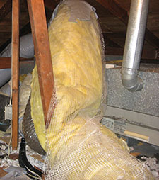 Crushed air conditioner air ducts can cause the air conditioner compressor to fail