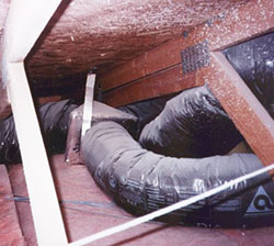 Flexible air ducting serving air conditioning systems must be installed correctly