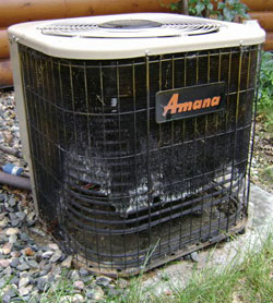 Freon leaks are common in the outdoor air conditiioner