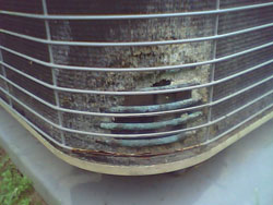 Freon leak in coiling coils for home air conditioner