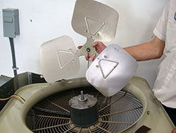 Installing a new air conditioner fan motor